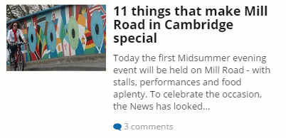 Cambridge News 18th July